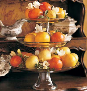 centerpiece using fresh fruit