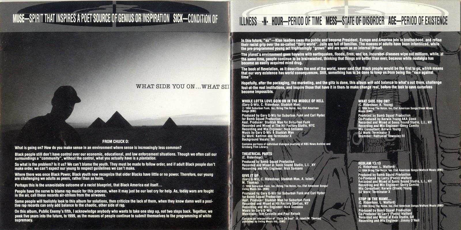 Public Enemy — Muse Sick-N-Hour Mess Age (1994) [Flac + 320kbps