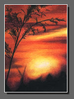 Silhouette Sky #21 by Dee Overly, Colored Pencil