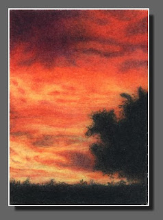 Silhouette Sky #12, Colored Pencil, Dee Overly