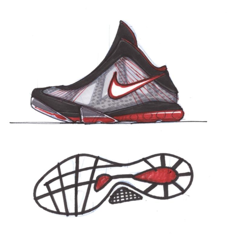55de611cba7 Nike Designer Jason Petrie s early concept sketches of the LeBron VIII V 2.  (Image courtesy of Nike Philippines)