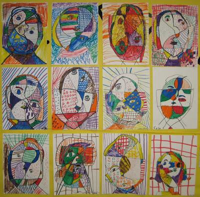 Wild 'n Crazy Picasso Portraits • TeachKidsArt