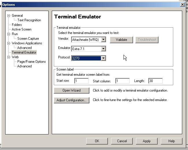Extra emulator 3270