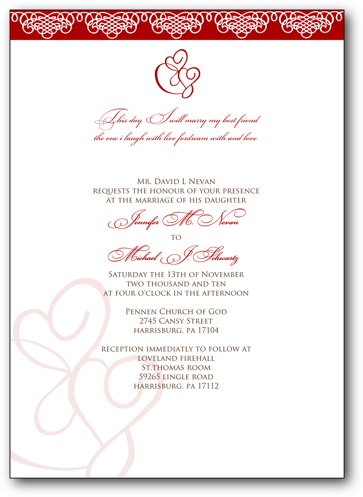 Signatures By Sarah Wedding Invitations For Madonna