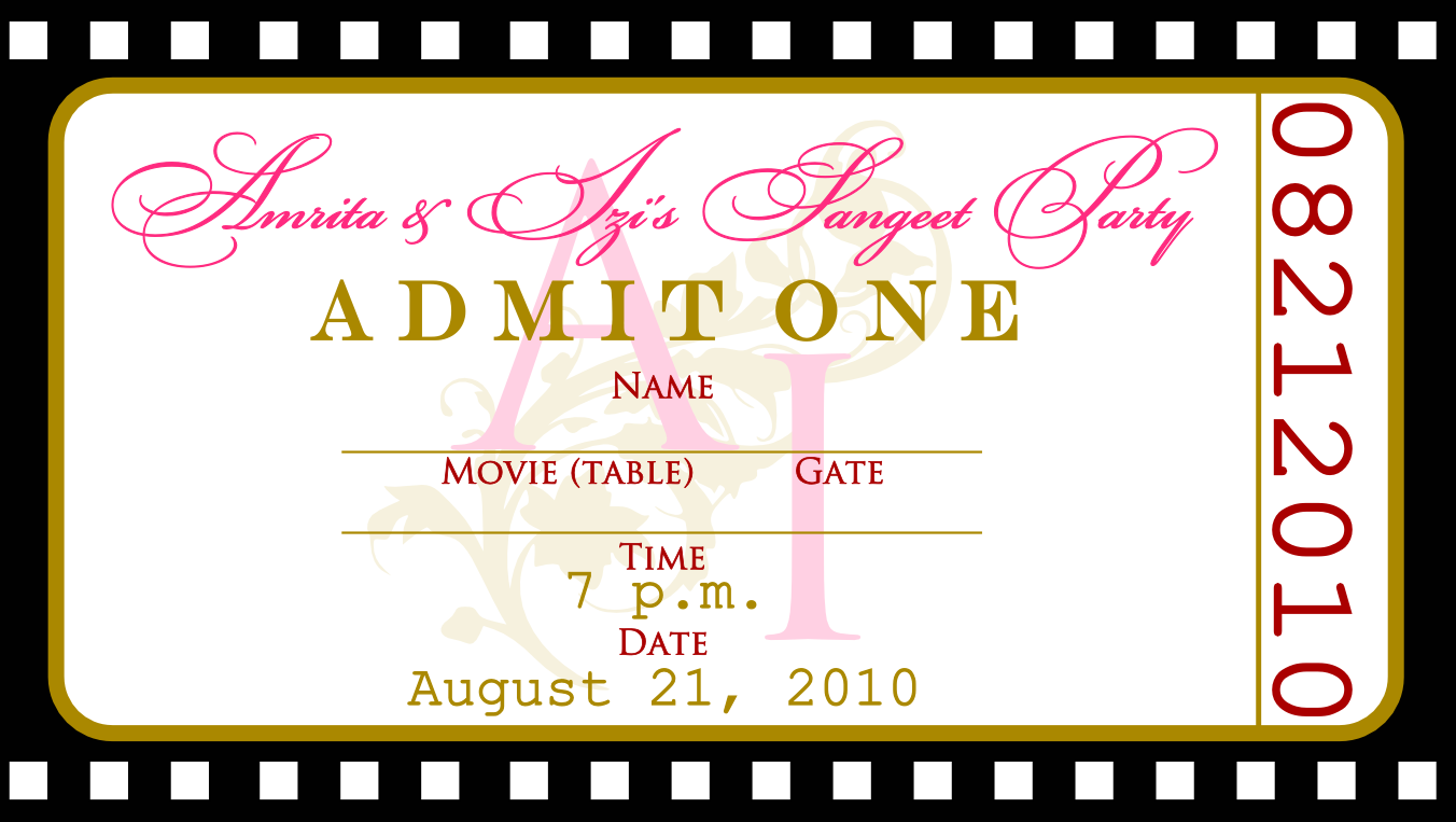 Ticket Templates – Free Ticket Template