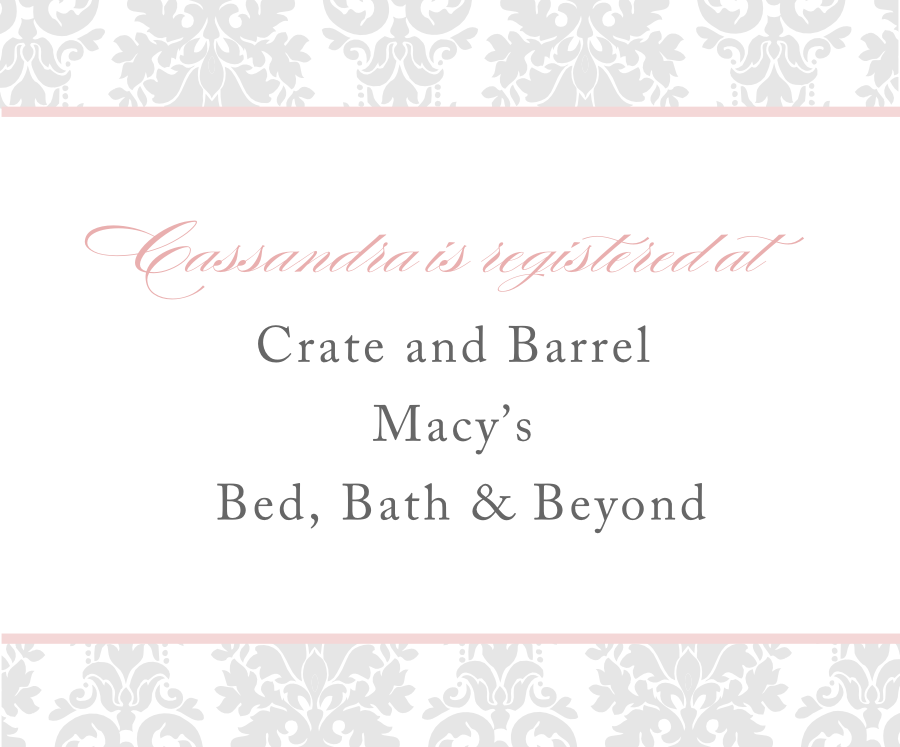 Signatures By Sarah: Bridal Shower Invitations For Cassandra