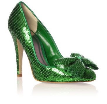 Green Sparkly Shoes Uk