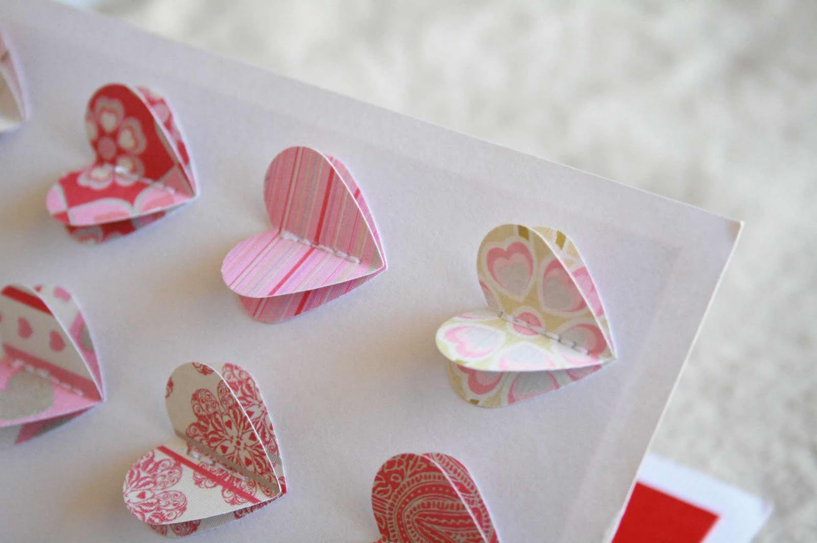 the creative place diy 3d heart valentine card
