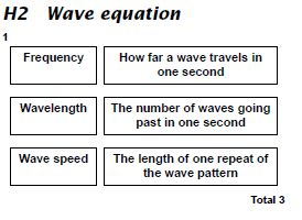 GCSE Physics: Answers to questions on Wave Equation