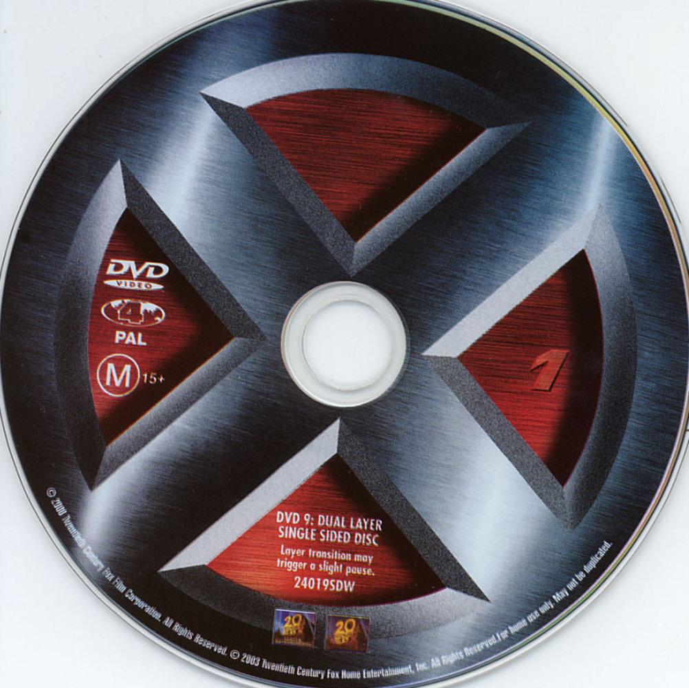 DVD Lables: X-MEN 1-2-...