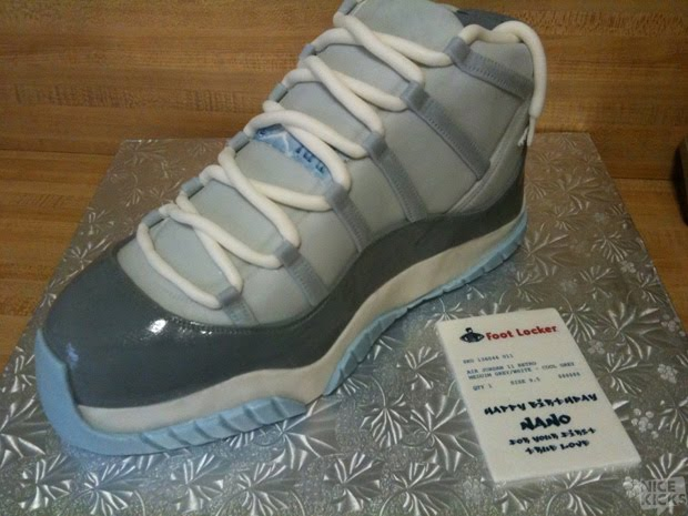 Can I Live Cl Air Jordan 11 Cool Grey Birthday Cake