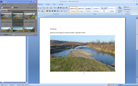 You can format picture from Format tab in Word