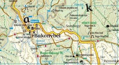 bakonybél túraútvonal térkép Bakonybél Túraútvonal Térkép | Térkép
