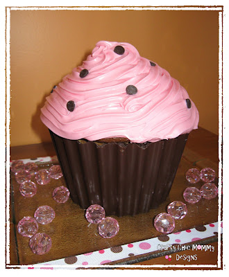 Crafty Chic Mommy Mmmm A Giant Cupcake In Time For