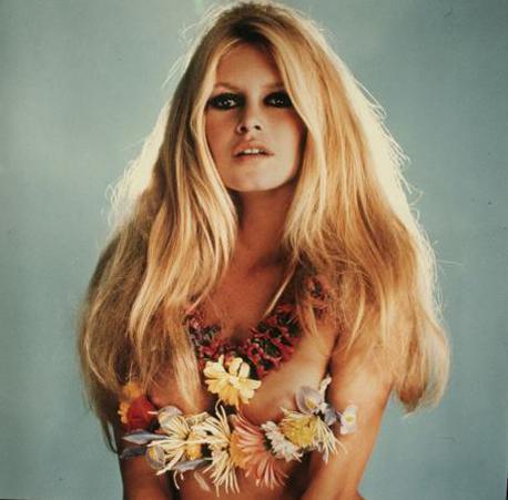 Portrait of Brigitte Bardot.