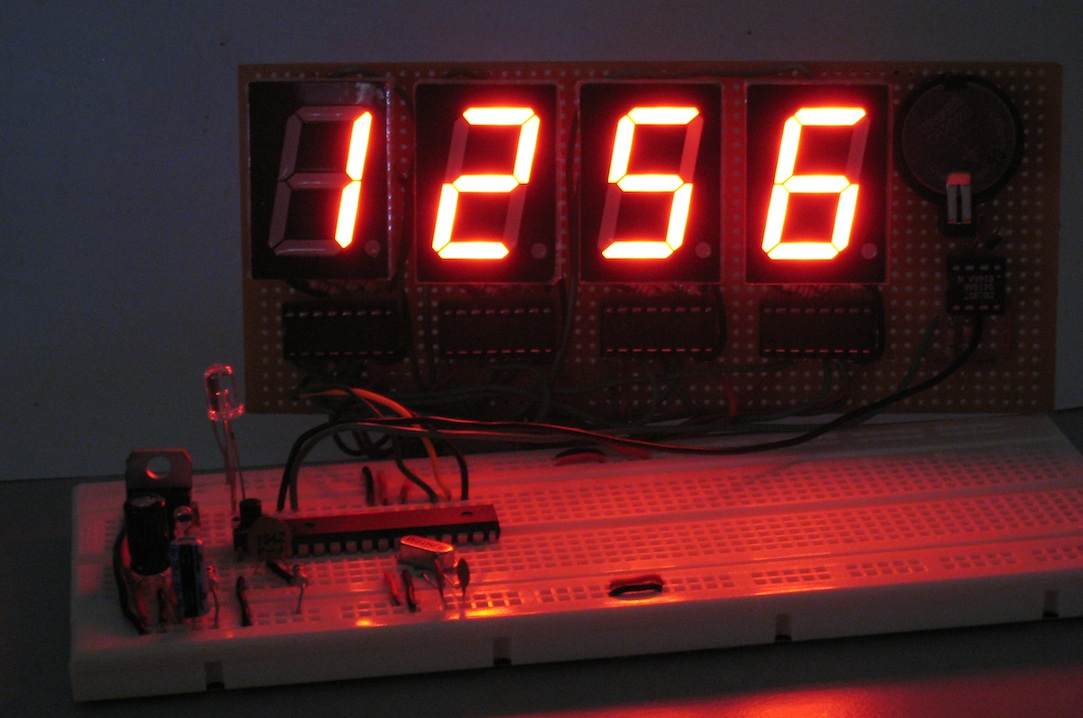 Arduino For Beginners Digital Clock With 7 Segments Led