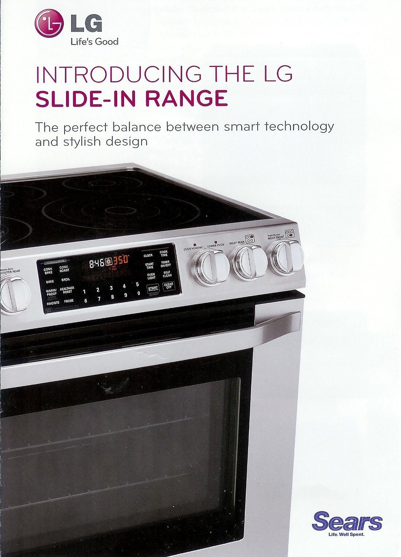 Appliance Information LG Slidein range