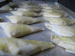 Home Cooking In Montana Cheese Phyllo Dough Triangles