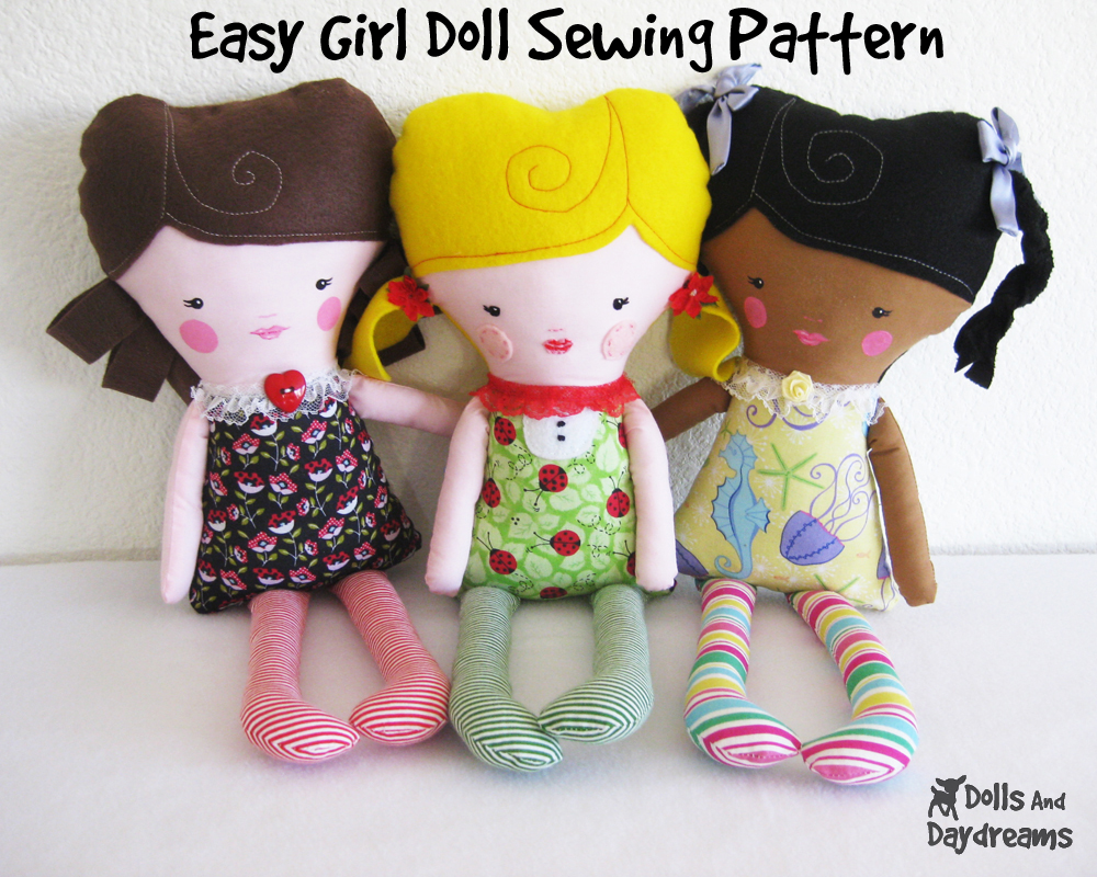 Dolls And Daydreams - Doll And Softie PDF Sewing Patterns: Easy Girl ...