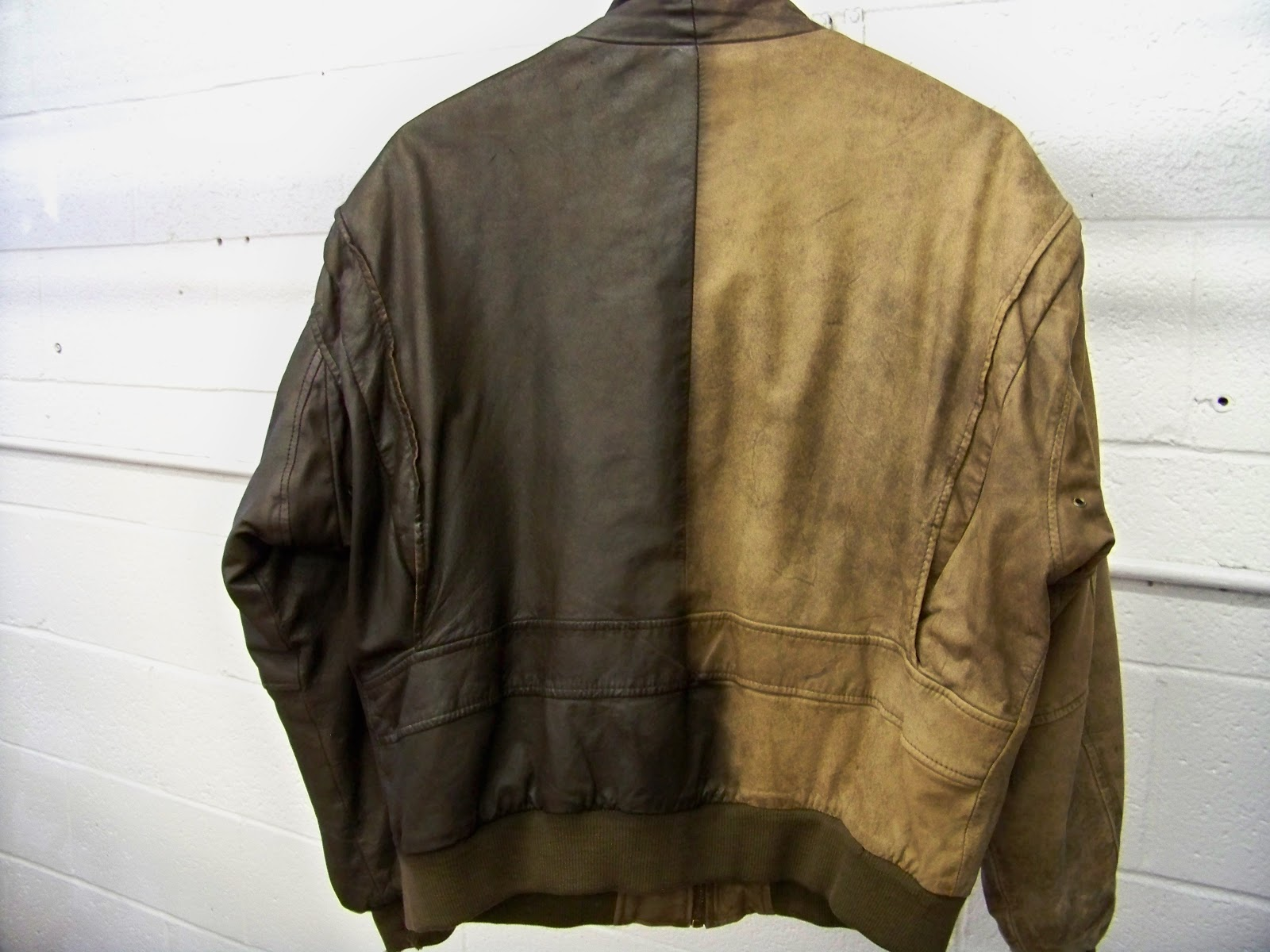 Re dye leather jacket