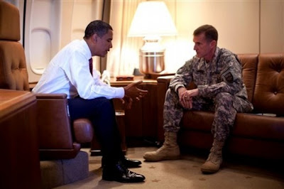 Pres. Obama with Gen. McChrystal