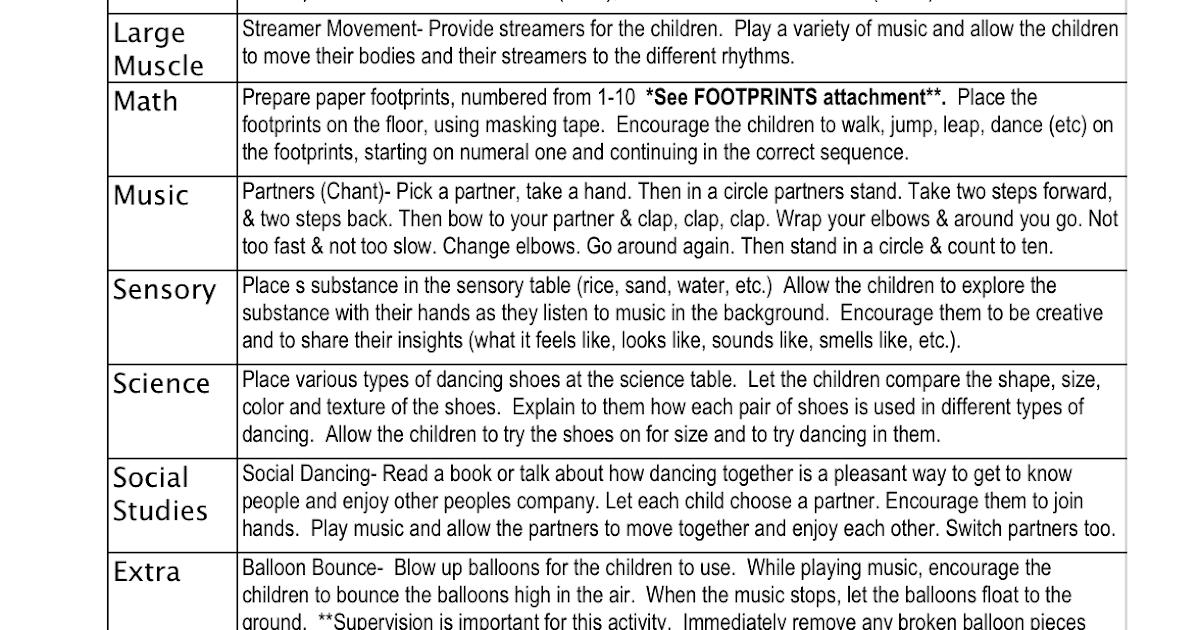 Preschool Is Fun Planning Activities: Creative Movement ...