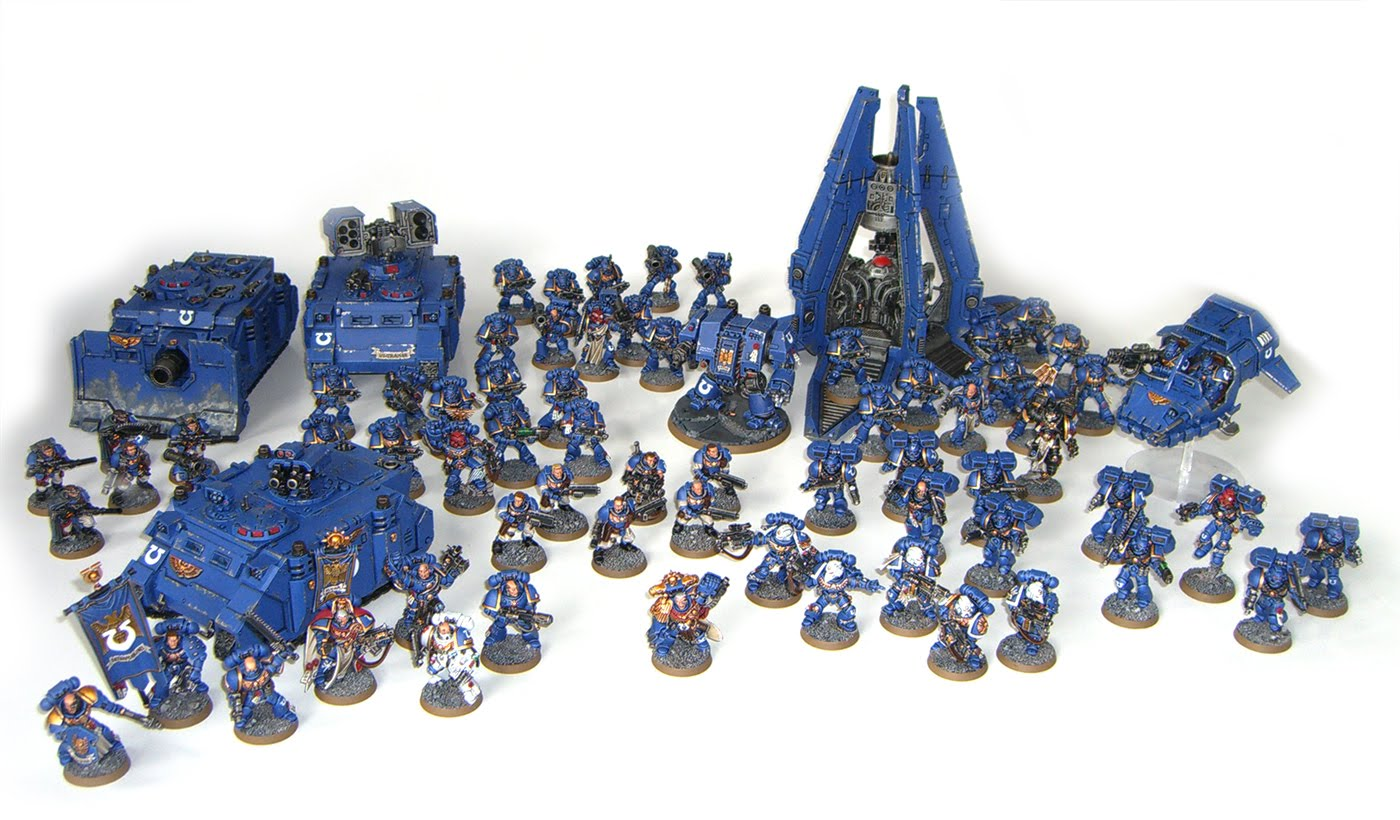Ultramarines Army Full army shot ...