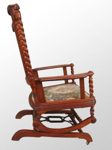 Antique Platform Rocking Chair With Springs Best Back Pain George Hunzinger Furniture Other Chairs It Appears To Be A Wooden Brace Metal Rod Inside The Could Have Been Added Later Provide Additional Support An Old