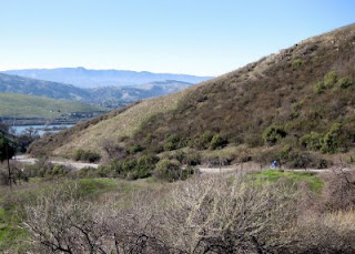 View from a switchback along Metcalf Road, San Jose, California