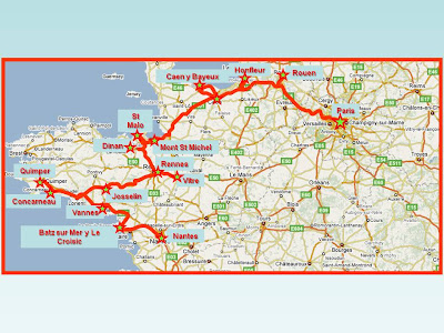 Bretaña Y Normandia Mapa.Viajes Escapadas Y Paseos Datos Practicos Bretana