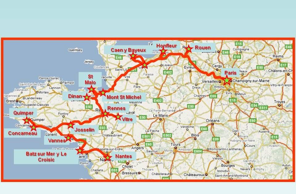 Mapa Bretaña Y Normandia.Bretana Y Normandia Mapa Mapa