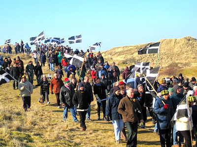 St Piran's Day parade, kernow flags
