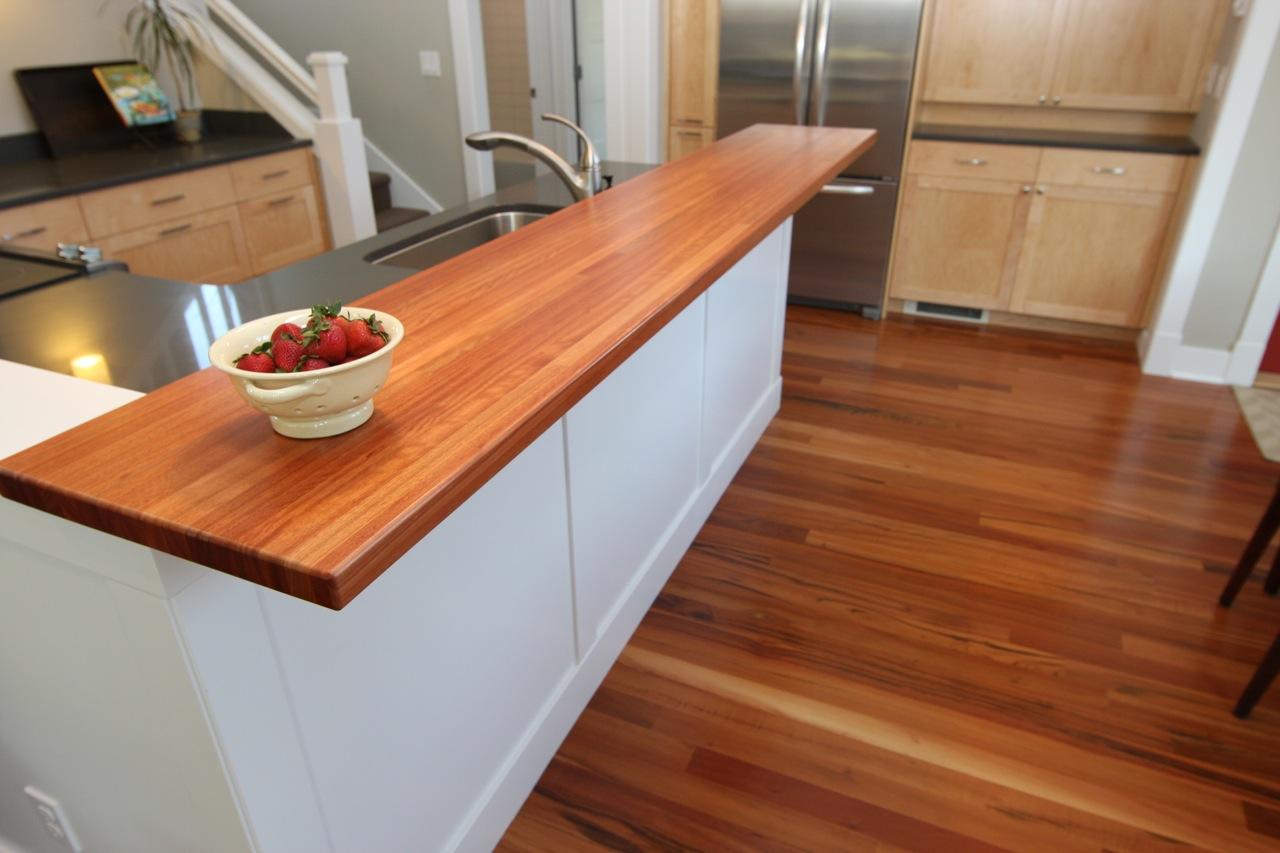 details of home kitchen bar top