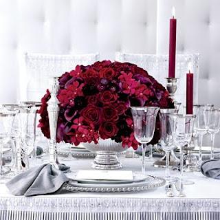 Arranjo+vermelho+1 Detalhes de uma mesa!