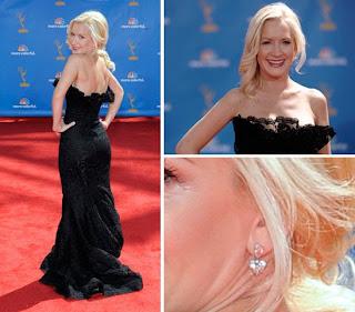 Angela+Kinsey+vestido+preto+de+renda Emmy Awards 2010!