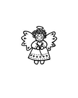 disegni da colorare di angeli