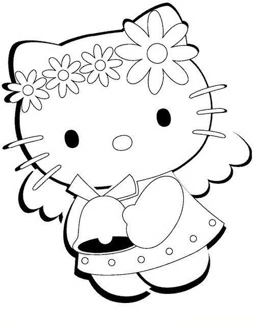 Disegni Da Colorare Di Hello Kitty Versione Natalizia