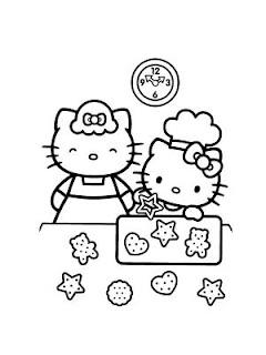 hello kitty e i biscotti di Natale da colorare