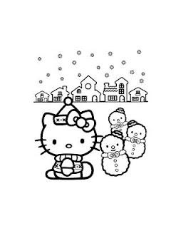 pupazzi di neve di hello kitty per la tua creatività