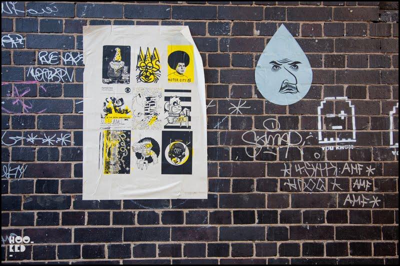 EMA / Burning Candy, London Street Art Pasteups, London. Photo ©Hookedblog