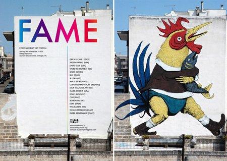Italian street art festival, Fame Festival festival flyer