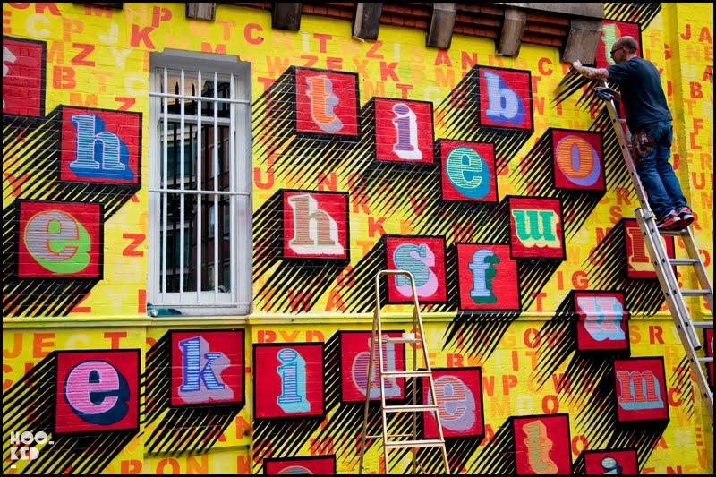 Ben Eine — Middlesex Street Art Mural in London