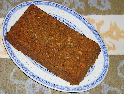 Lentil Loaf with Carrots