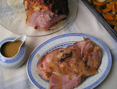 Baked Bone In Ham with Maple Mustard Glaze