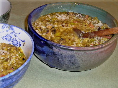 Ham and Mushroom Orzotto or Risotto