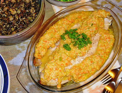 Fish in Leek and Carrot Sauce