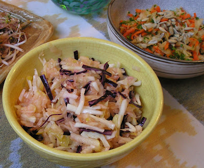Sauerkraut Salad with Apple and Cabbage