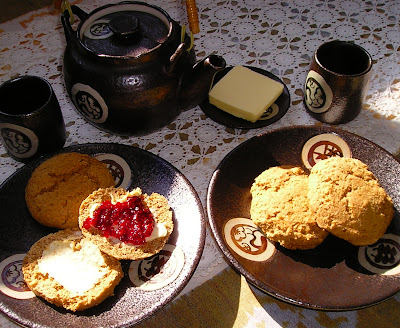 Cape Breton Scones with Homemade Raspberry Currant Jam