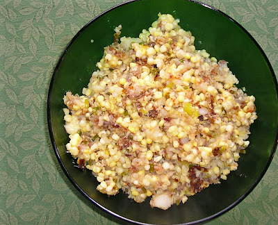 Potato & Pepper Hash with Corn & Cheese