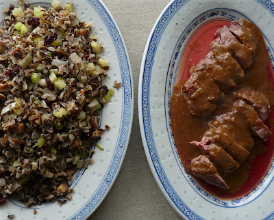 Orange Duck with Fried Wild Rice